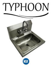 """17-5/16"""" Wall Mount Hand Wash Sink Nsf Commercial Restaurant Stainless Steel"""