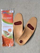 Foot Cradles Gel Sport GENUINE LEATHER  Insoles Size 41/7 (men)