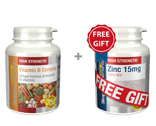Vitamin B Complex 360 Tablets + FREE GIFT Zinc 15mg 60 Tablets | Includes Biotin