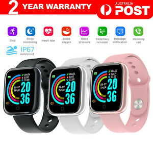 Smart Watch Bluetooth Heart Rate Blood Pressure IP67 Waterproof For iOS Android