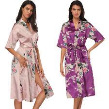 Women Floral Sleepwear  Kimono Robe Dressing Gown Bathrobe Dress Hot!
