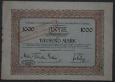 Gorkauer Societäts-Brauerei Aktien-Gesellschaft in Gorkau 1923  1000 Mark