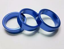qty 3 10mm Alloy Spacer Blue Anodized 1-1/8 28.6mm Threadless Fork steerer