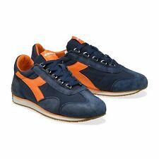 Diadora Heritage Scarpa Sneaker Unisex EQUIPE H CANVAS STONE WASH Insignia Blu