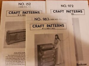 A. Neely Hall craft pattern No. 152 (Side 1),No. 972 andNo. 983 (Side no. 1)