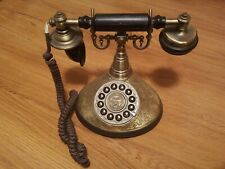 Retro 1910 Paramount Classic Collection Brass Push Button Antique Telephone