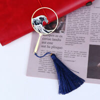 Shenlaichuan Surf Fan Wave Metal Fringed Bookmarks Brass Elegant Gift BookmarU_X
