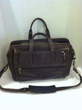 """Leather Laptop Bag Mens """"Winn"""" Brown Shoulder"""