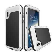 iPhone X XS Max 11 Waterproof Shockproof Metal Case Cover + Tempered Glass Film