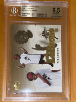 POP 3 2006-07 LeBron James UPPER DECK THE LEBRONS GOLD KID #5 BGS 9.5 PSA lakers