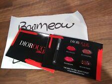 Dior Ultra Rouge Lipstick sample card 999 587 763 883