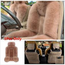Genuine Australian Sheepskin Fur Long Wool Car Front Seat Cover Winter Universal