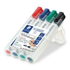 STAEDTLER 351 WP4 Lumocolour Whiteboard Marker with Bullet Tip, Multicolour, 4pk