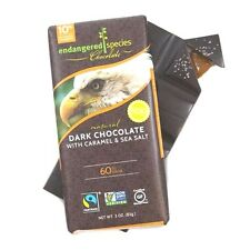 Endangered Species Dark 60% Chocolate Bar with Sea Salt & Caramel ONE SINGLE BAR