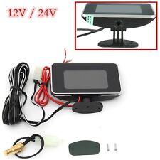 12V / 24V Car LCD 2 in 1 Digital Display Voltmeter Water Temp Temperature Guage