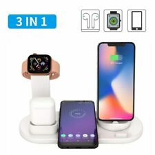 3 in 1 Qi Wireless Charger Stand For Earpods Huawei Honor Phone Dock Station
