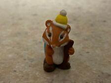 Hallmark 1991 Merry Miniature Hitchhiking Chipmunk with Gold Sticker