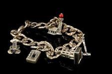 Vintage 5 Charms Lighthouse Crab Link Sterling Bracelet A91939
