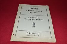 Case Tractor 70 Disk Harrow Parts Book Manual YABE14