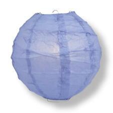 "20"" Serenity Blue Round Paper Lantern, Crisscross Ribbing, Hanging Decoration"