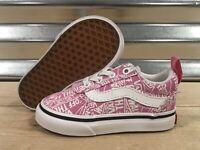 Vans Ward Slip-On OTW Repeat Toddler Girls Shoes Pink White SZ 5 ( VN0A3QU1V2J )