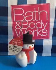 BATH BODY WORKS POCKETPAC HOLDER REUSABLE TOTE PALS JACK SNOWMAN