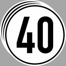 3 Sticker 40 KMH km / H 20cm Speed Car Bus Car Shield din1451