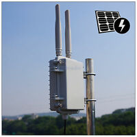 300Mbps 600mW Outdoor wifi AP range extender mini Metal shell Poe 2*5dBi Antenna