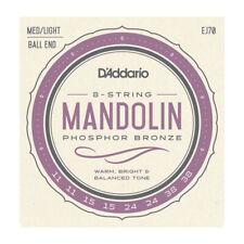More details for d'addario ej70 phosphor bronze mandolin strings 11-38, med/light gauge ball end
