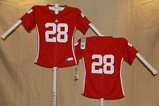 WISCONSIN BADGERS Adidas #28 FOOTBALL JERSEY Youth Girls Large (size 14) NWT red