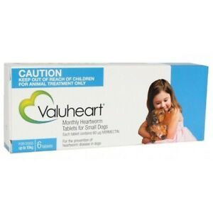 Heartworm Pills for Small Dogs X6 VALUHEART Tablets Up To 22lbs Heart Worm