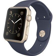 -*BRAND NEW*/- Apple Watch 42mm Gold Aluminum Case - Midnight Blue Sport Band!