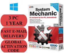 IOLO System Mechanic 3 PC 1 YEAR GLOBAL ACTIVATION CODE 2018 E-MAIL ONLY