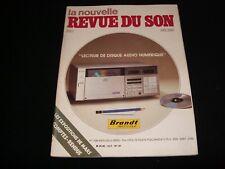 LA NOUVELLE REVUE DU SON<>APRIL 1983<>FRENCH AUDIO MAG.°#67°CONRAD JOHNSON PR.1