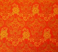 Daydreams BTY P&B Textiles Orange Brown Damask on Bright Light Red