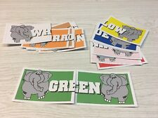 Monkey Color Word Match - Laminated Activity Cards