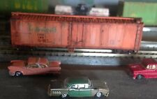 N,Atlas,Tropicana ,50' reefer,weathered w/fade,rust, w/fox metal wheels,mt's