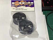 HPI 3691 22mm Super Star Wheel Black 3mm Offset Yokomo Kyosho Tamiya PAIR NOS
