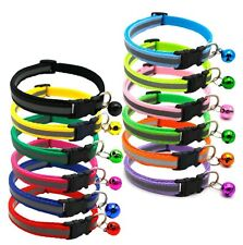 Reflector Design Collar Adjustable with Bell For Kitten Puppy Small Dog Cat Pet