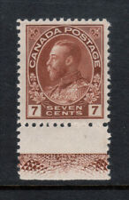 Canada #114iii Very Fine Mint Lightly Hinged With Type D Lathework *With Cert.*
