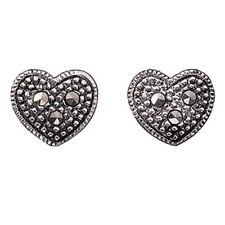 Orecchini di lusso con gemme bottoni sconosciuti argento sterling