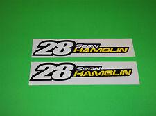 ONE INDUSTRIES SEAN HAMBLIN # 28 MOTOCROSS SUZUKI TEAM RIDER STICKERS DECALS