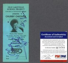 Chubby Checker signed 1994 Rock-n-Roll concert ticket Psa.Dna authenticated