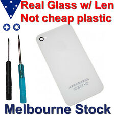 Replacement Rear Glass Panel Screen Back cover fix kit for Apple iPhone 4 White