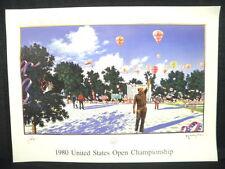 Hiro Yamagata Jack Nicklaus 1980 US Open Lithograph