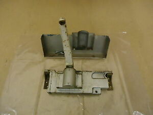 Standard Door Closer Gray/White Vintage Metal