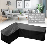 Waterproof Rattan Corner Furniture Cover Garden Outdoor Sofa Protect L Shape UK