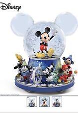 Bradford Exchange Disney Mickey Mouse Glitter Globe With Motion w/ Music New