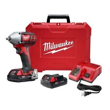 """Milwaukee Impact Wrench Kit M18 Cordless 18 Volt Lithium Ion 3/8"""" Drive 167 ftlb"""