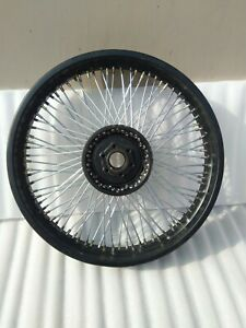 NEW 80 SPOKES 18 inch FRONT WHEEL RIM DISK BLACK FIT FOR ROYAL ENFIELD CLASSIC